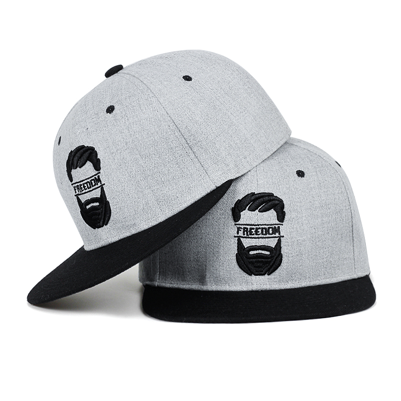 Original Snapback Cap Men Flat Brim Bone Baseball Caps Embroidery Mustache Mens Hat Youth Street Ware Cool Hip Hop Cap