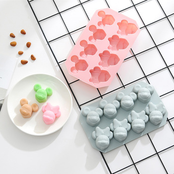 8 grid Mickey Shape cake DIY silicone mold ice cube candy chocolate cake biscuit baking pastry mold Fondant cake decorating tool creative diy silicone mold cake baking chocolate mould cake mold diy plastic candy sugar paste mold cake decorating baking tool