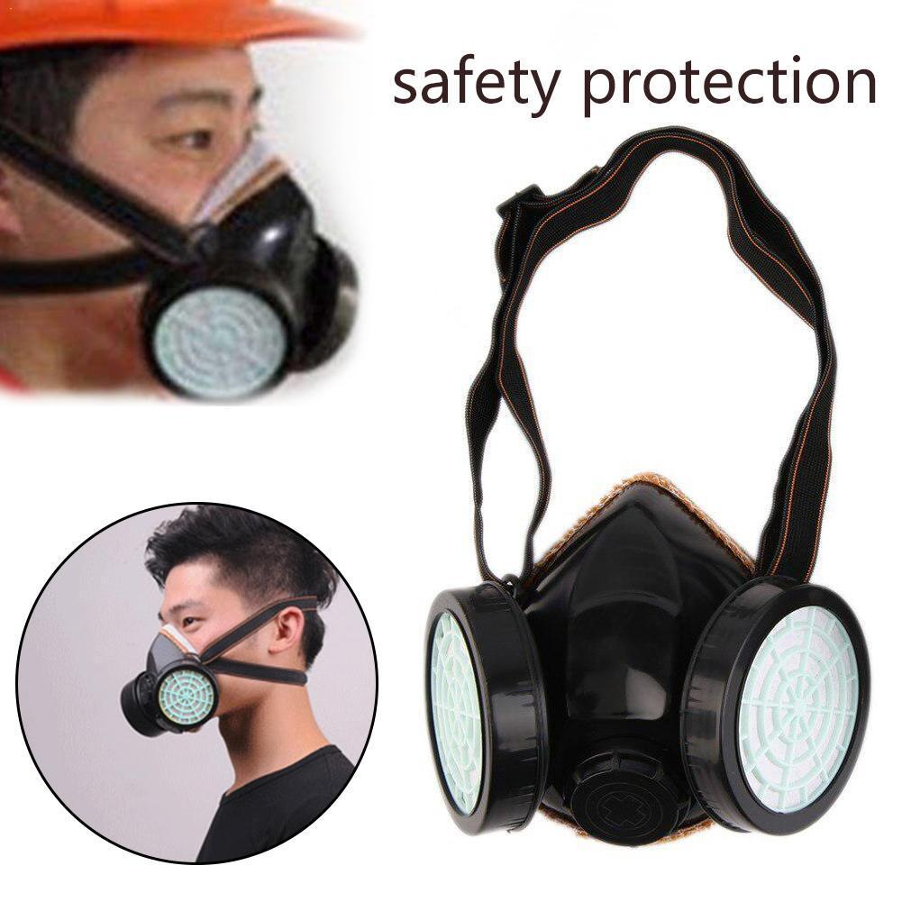New Protection Filter Dual Gas Mask Chemical Gas Anti Safety Paint Respirator Workplace Industrial Mask Mask Dust Face O4K0