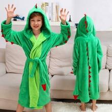Детские халаты для мальчиков пляжные Полотенца ночное белье для малышей Толстовка с капюшоном банный халат, детский банный халат для девочек с покемоном, Детские динозавр PIKACHU полиэстер