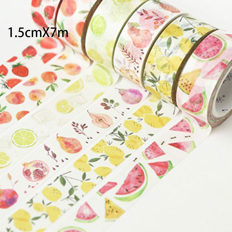 1.5cm * 7m Cute Fruit Masking Tape DIY Decorative Tape Deco Maskingpaper Tapes