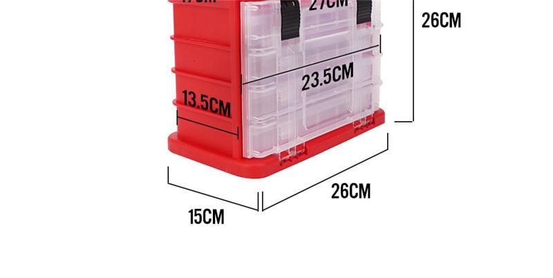 High Quality 5 Layer PP+ABS Big Fishing Accessories Box 27x17x26cm Plastic Handle Fishing Tools Box Carp Fishing Tackle (5)