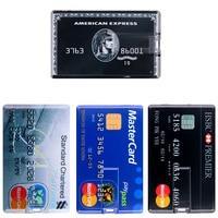 Pendrive impermeabile Super sottile carta di credito USB Flash Drive Pen Drive 4G 8G 16G 32GB 64G 128GB 256GB carta di credito modello Memory Stick