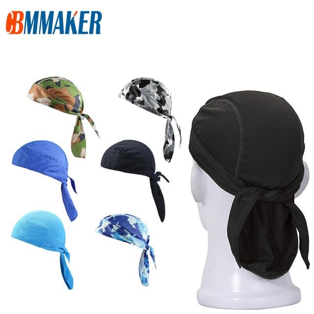 Quick Dry Pure Cycling Cap Head Scarf Summer Men Running Riding Bandana Headscarf Ciclismo Pirate Hat Hood Headband 1
