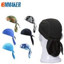Szybkoschnący czysta czapka kolarska szalik na głowę letni mężczyzna bieganie konna chustka na głowę Ciclismo czapka piracka kaptur z pałąkiem na głowę