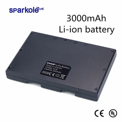 Sparkole 14.8V 3000mAh Lithium ion Battery for Cleanmate QQ6 QQ6S (UL & CE Approved) 800 cycles