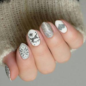 Image 5 - Noël ongles estampage plaques en acier inoxydable modèle timbre plaque Nail Art Image bricolage outil de conception