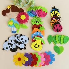 T-N Non-woven Toy Animal Ladybug Bee Panda Butterfly Felt DIY Pack Kindergarten Decoration Primary School Classroom Wall Sticker