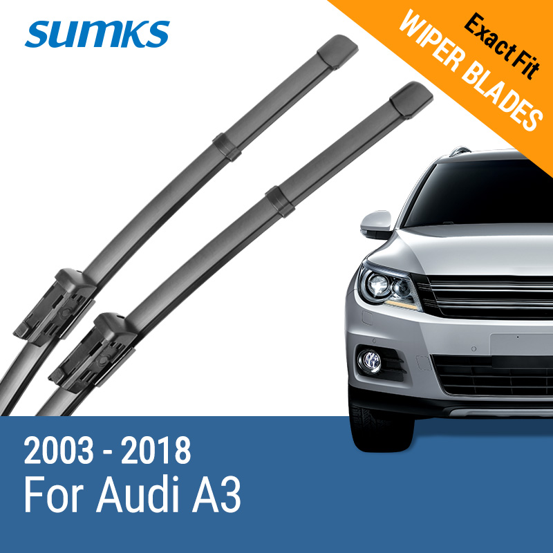 SUMKS Wiper Blades for Audi A3 8P 8V 2003 2004 2005 2006 2007 2008 2009 2010 2011 2012 2013 2014 2015 2016 2017 2018