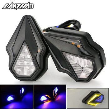 Pair Motorcycle Fairing LED Turn Signal Lights DC-12V DRL Flowing Turn Signals Indicators Lamps 10mm for BMW F800GS R1200GS F650 image