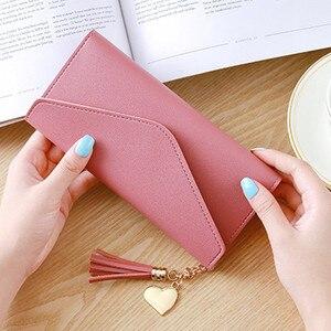 Women Leather Slim Wallet Long Design Trifold Credit Card Holder Organizer Purse JAN88