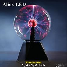 Novelty Plasma Ball Lava Lamp LED Decorative Night Light Magic Lighting EU 220V USB 5V for Kids Baby Birthday Christmas Gifts
