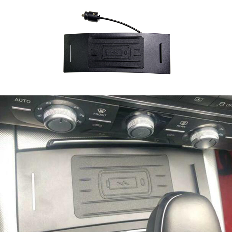 For Audi A7 RS6 A6 C7 Car Wireless Charger Mount Ashtray Adapter Mobile Cradle Fast Charging Panel Phone Holder