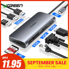 Ugreen USB HUB C HUB to Multi USB 3.0 HDMI Adapter Dock for MacBook Pro Accessories USB-C Type C 3.1 Splitter 3 Port USB C HUB(China)