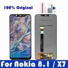 מקורי עבור Nokia 8.1 LCD תצוגת מסך מגע פנל לנוקיה X7 LCD Digitizer עצרת תיקון החלפת חלקי חילוף