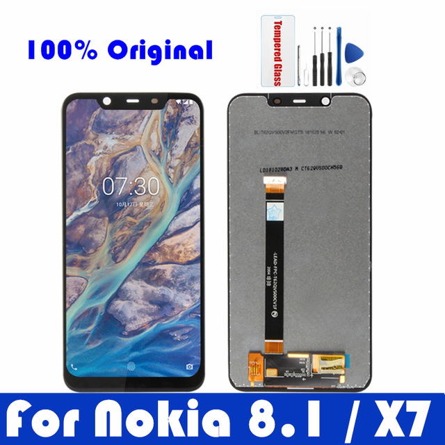 Original For Nokia 8.1 LCD Display Screen Touch Panel For Nokia X7 LCD Digitizer Assembly Replacement Repair Spare Parts