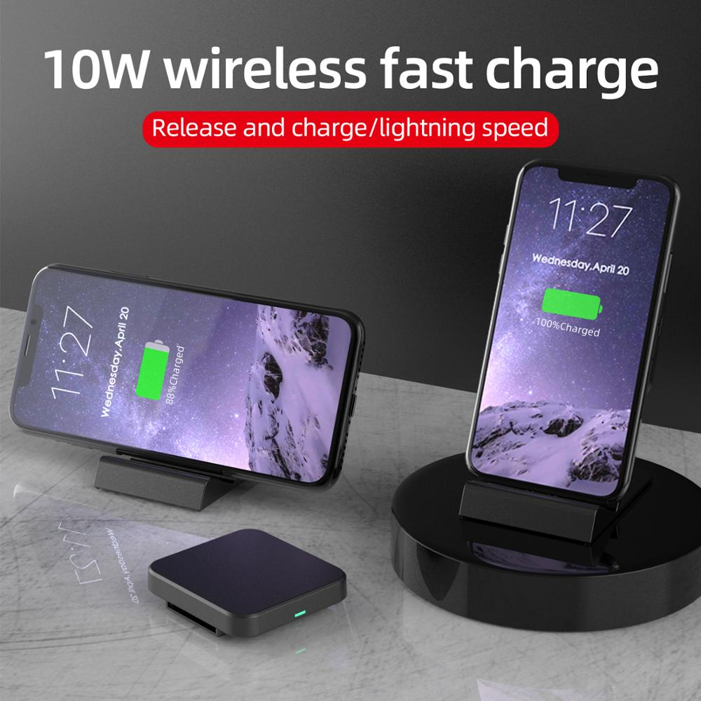 15W/10W/5W Qi Wireless Charger Stand For iPhone SE2 X XS MAX XR 11 Pro 8 Samsung S20 S10