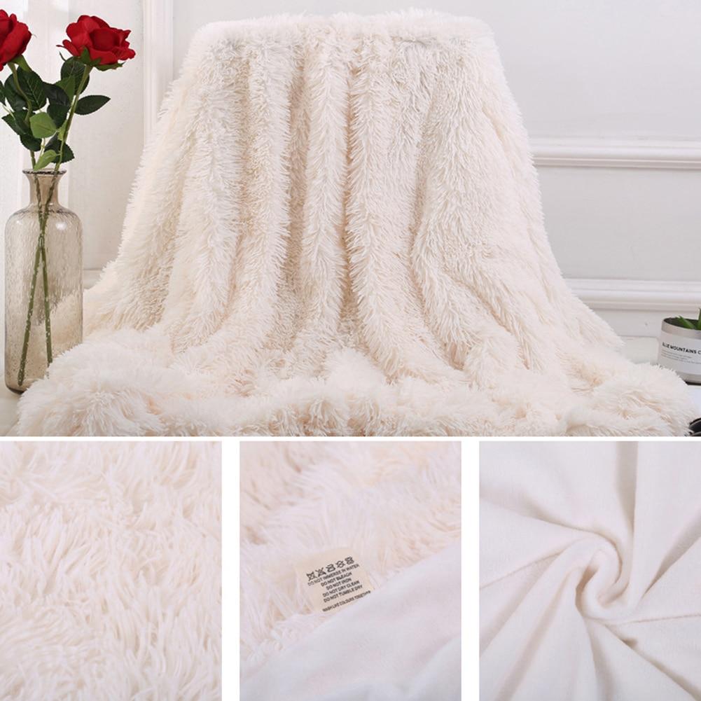 80x120cm Soft Fluffy Shaggy Warm Bed Sofa Bedspread Bedding Sheet Throw Blanket-1