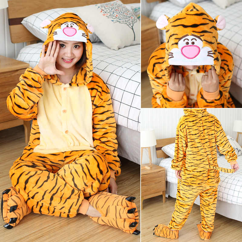 Pijamas de unicornio de invierno Stitch Animal ropa de dormir onesies con diseño de Panda kigumi mujeres hombres Unisex franela adultos ropa de casa conjuntos