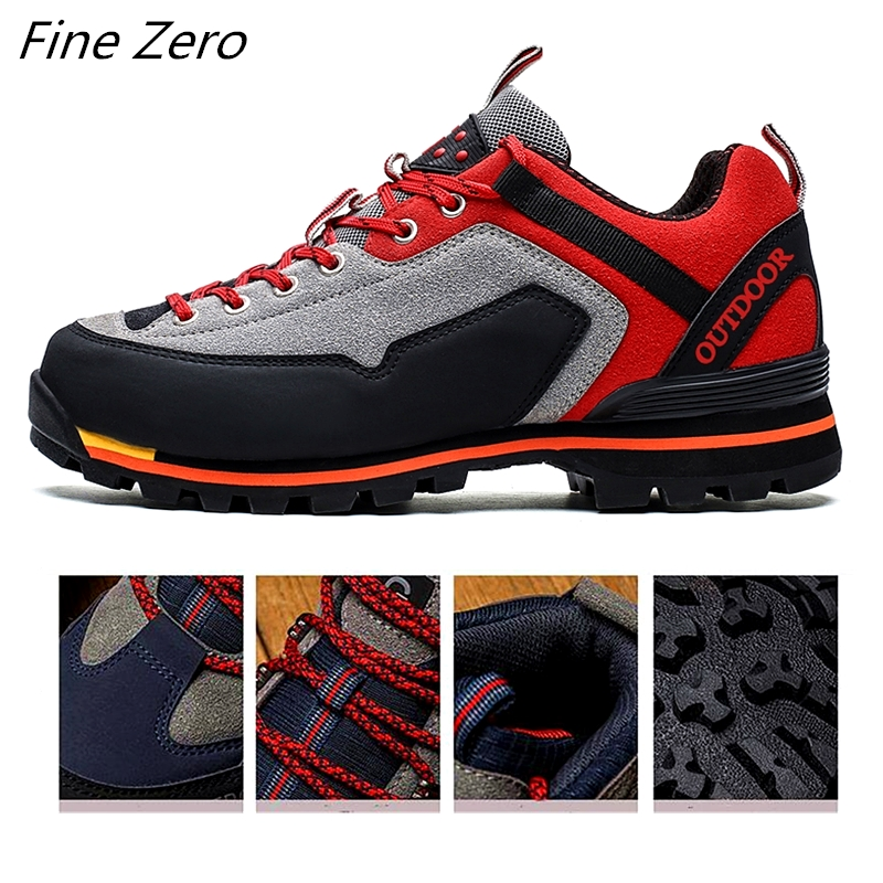Autumn Large Size Military Tactical Boots Men Leather Outdoors Round Toe Sneakers Mens Waterproof Casual Climbing Hiking Shoes