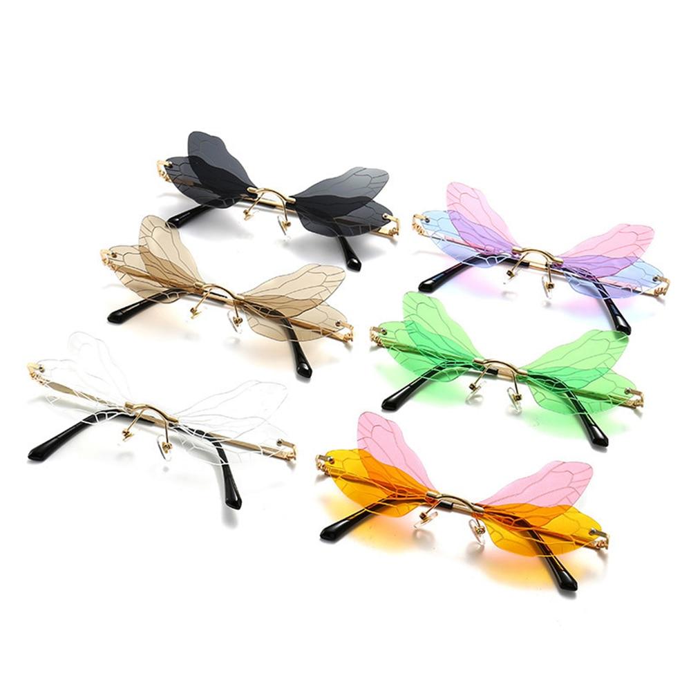 Купить женские солнцезащитные очки без оправы yameize уникальные «кошачий