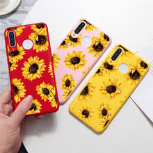 Case For Huawei Honor 9S 8X Y5P Y6P Y8P P Smart P40 P30 P20 Lite E Pro Plus 2019 2020 Sunflower Flower Sweet Case Soft TPU Cover