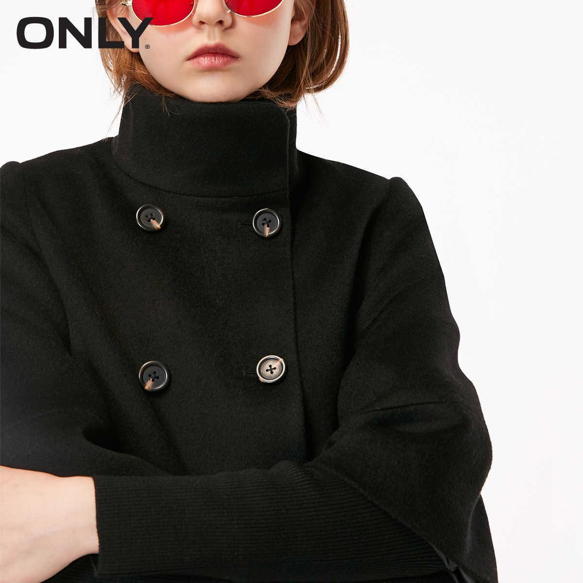 ONLY women's autumn new wool double-breasted woolen coat | 11834S515
