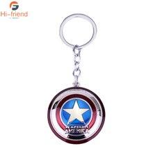 Avengers Infinity War Character Captain America Shield Superhero Star Pendant Keychain Car Key Chain Accessories