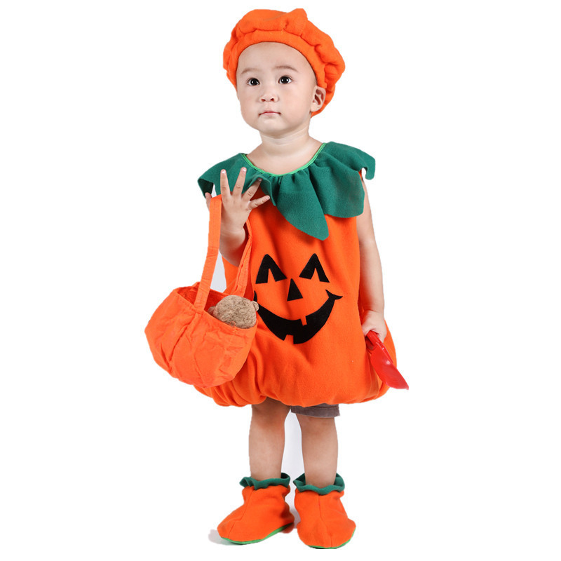 Halloween Witch Mesh Dress Clothing Baby Pumpkin Suit Cosplay Batman Makeup Ball Costume