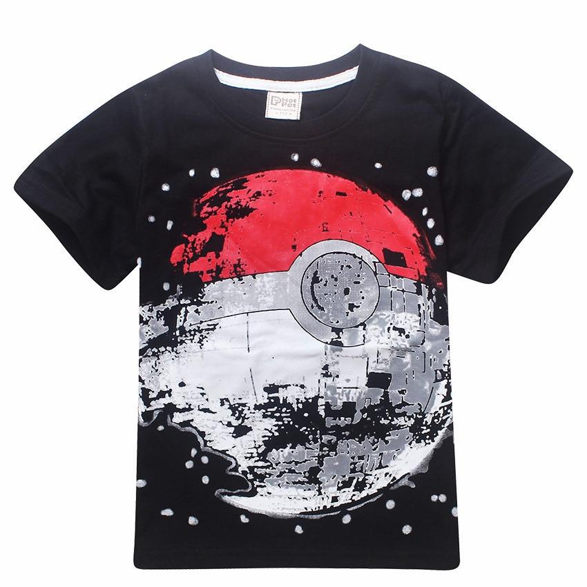 Дешевые детские футболки, футболка с покемоном для мальчиков, летний топ, футболка с землей, одежда, футболка для маленьких мальчиков, детск...