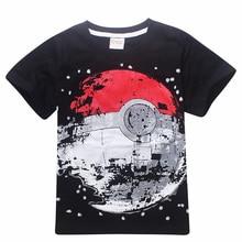 Venda barata crianças t camisas meninos pokemon bola t camisa verão topo t terra roupas camiseta para bebê menino crianças roupas