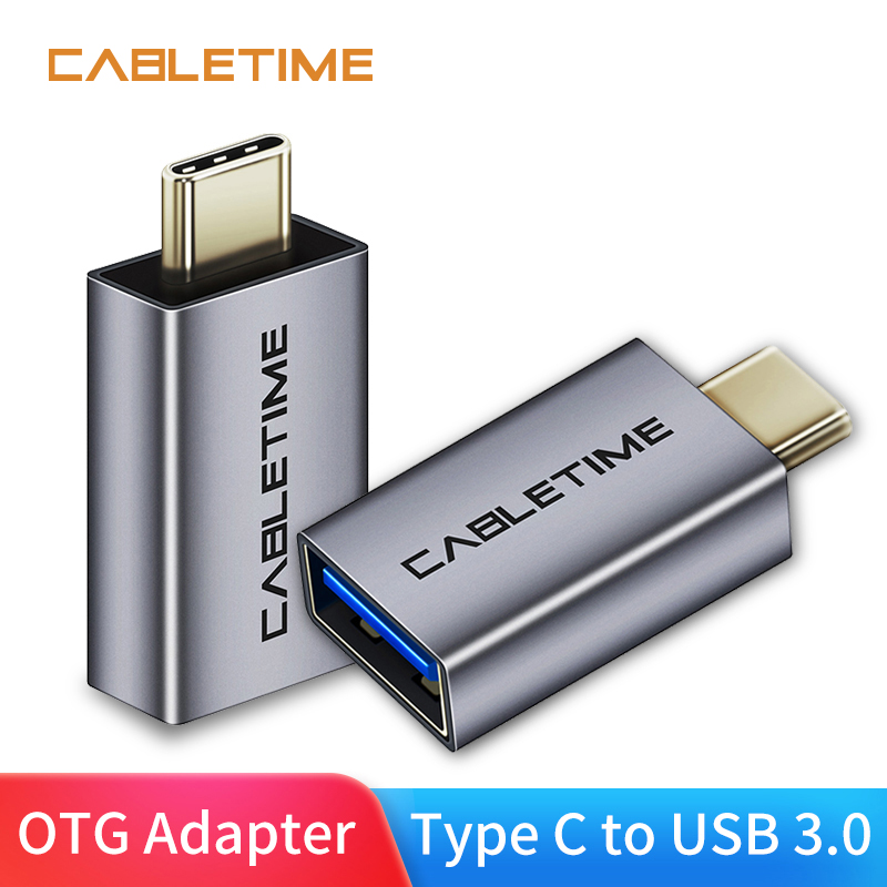 Cabletime Type C OTG USB C To USB3.0 A Female Adapter Charging & Sync Converter For Mobile Phones Laptops Tablets N212