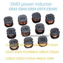 Power-Inductors 220UH 10uh CD32 CD43 470UH 330UH 680UH CD54 20PCS CD75 SMD CD105