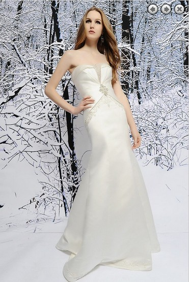 Free Shipping Dinner Dress 2016 New Fashion White Long Dress Crystal Beaded Sweetheart Stain Wedding Dresses Formal Bridal Gown