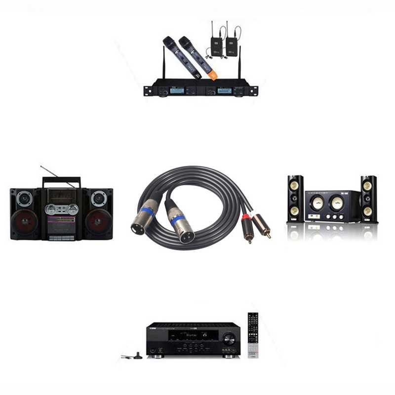 AABB-Fever Класс аудио кабель 2 RCA 2 пары XLR 3-контактный усилитель внутренней связи Гибридный разъем аудио-и видеокабель с двойным XLR Сделано в Китае Двойной RCA линия