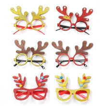 ZOTOONE 1PC Christmas Decorations Glasses Adult Childrens Toys Red Gold Tree Antlers DIY Party Decoration G