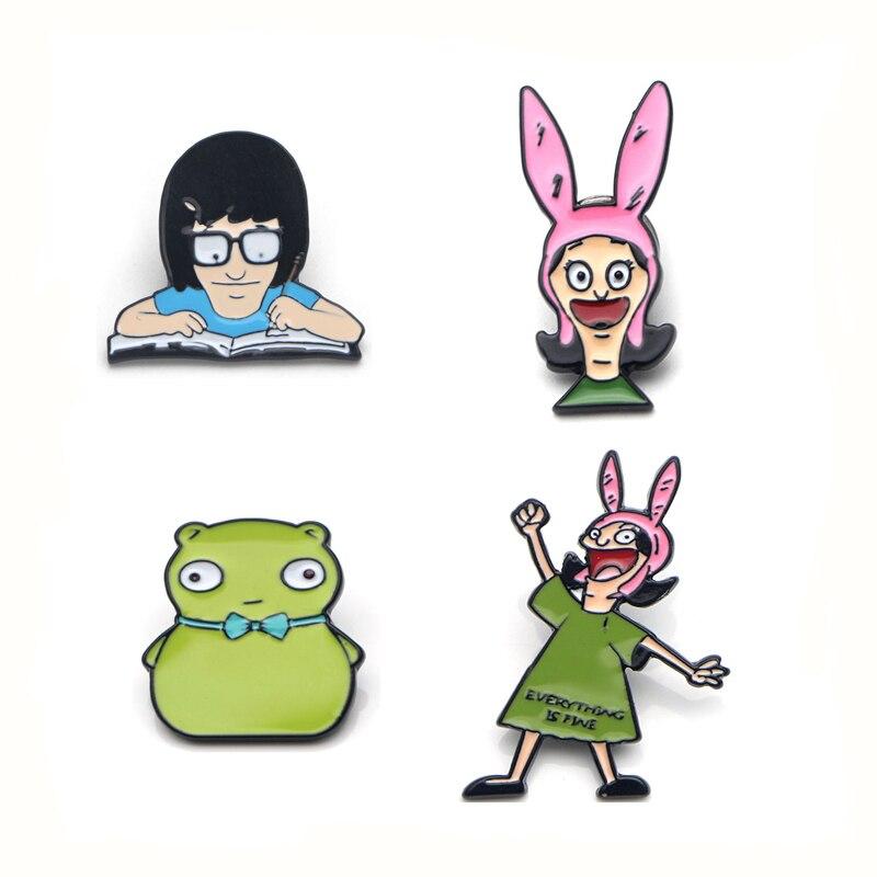 Bob Bob/'s Burgers Lanyard Keychain Cartoons Tina Linda Louise Gene