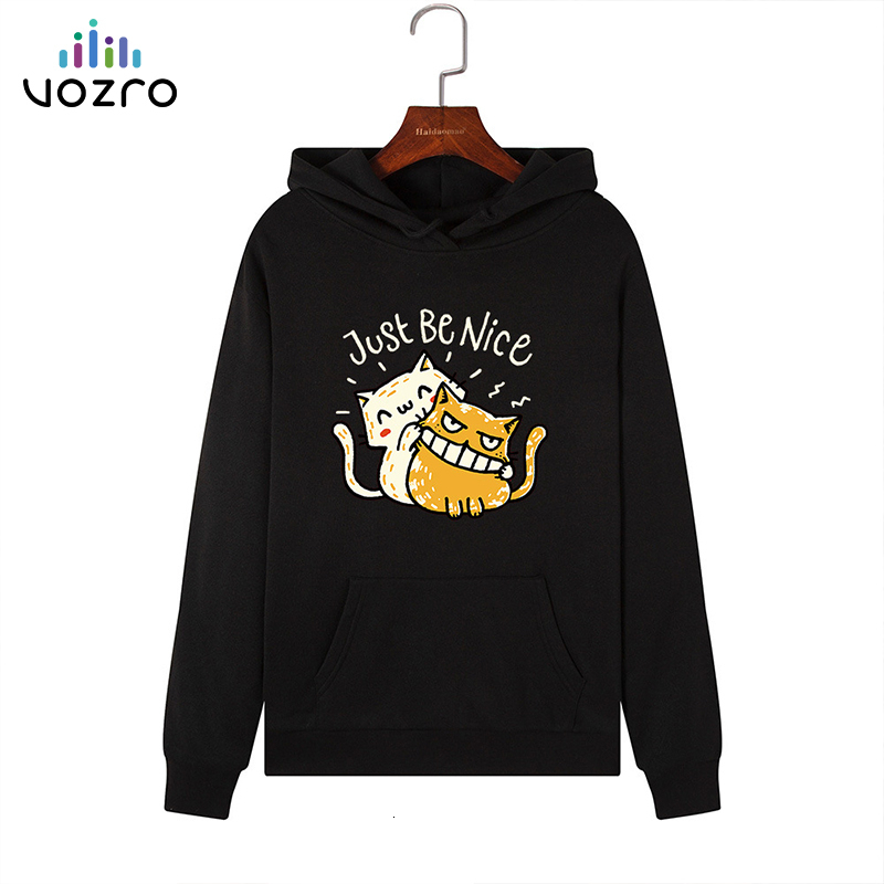 VOZRO Suit-dress Catch Down Even Hat Loose Coat Long Sleeve Woman Hoodies Sweatshirt Clothes Sudadera Mujer Manteau Femme Hiver