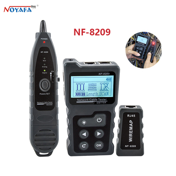 NOYAFA NF-8209 tester Detector wiring Voltage indicator Length Lan Cable POE Test Network Tool Scan Line LCD Display Tester 1