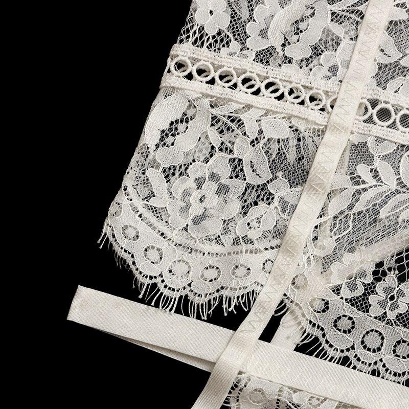 Ensemble de sous-vêtements sexy en dentelle transparente pour femmes