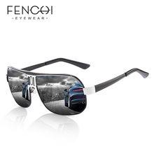 FENCHI de polarizadas gafas de sol hombres UV400 de alta calidad Retro gafas de sol de aviador lente de recubrimiento de conducción gafas para hombres y mujeres