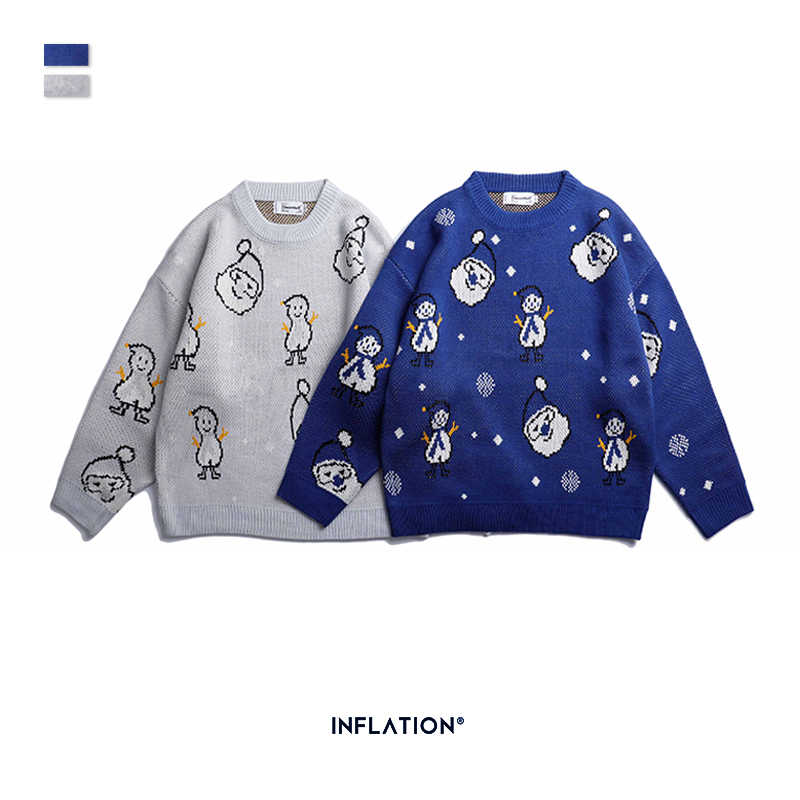 INFLATION 2019 New Autumn Fashion Brand Men Casual Sweater O-Neck Regular Fit Knitting Mens Sweaters Pullovers Men Sweaters