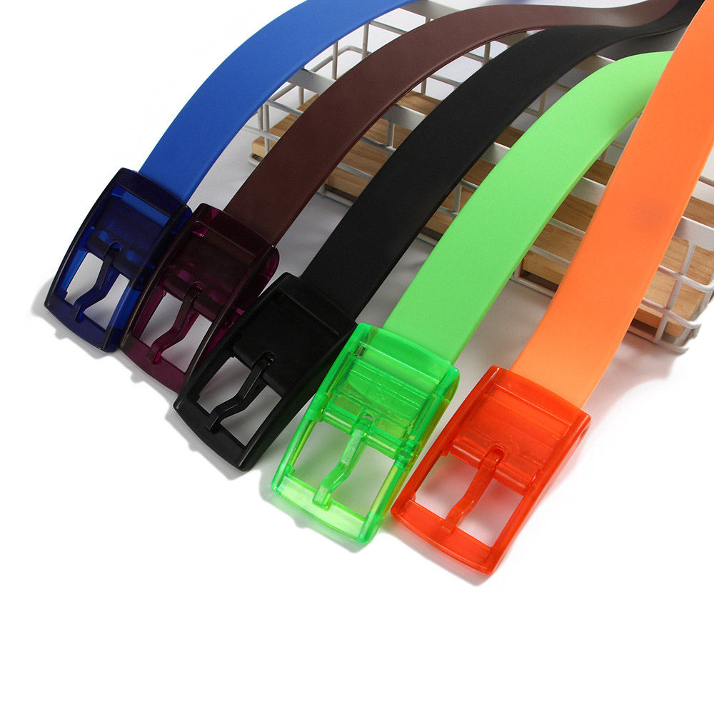 Lisse Boucle Ceinture Sangle Ceinture Casual ceintures silicone ceinture Ceintures