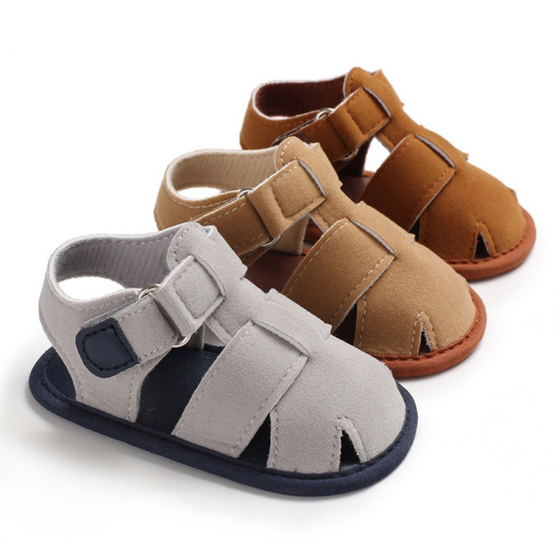 Newborn Baby Moccasins Summer Boys Fashion Matte PU Sandals Sneakers Infant Shoes 0-18M Baby Infant Boy Sandals