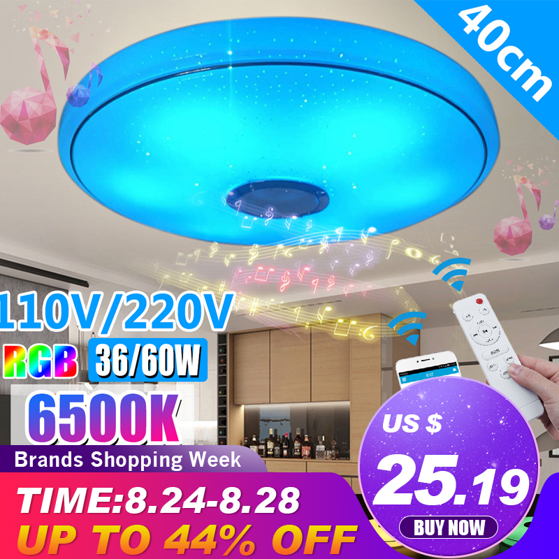 Modern RGB LED Ceiling Lights Home lighting 36W 60W APP bluetooth Music Light Bedroom Lamps Smart Ceiling Lamp Remote Control