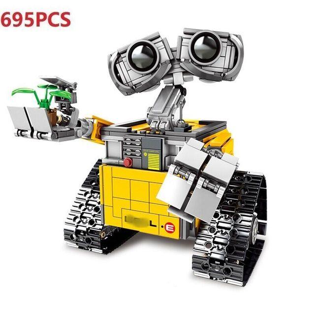 695 قطعة اللبنات الخالق سلسلة فكرة روبوت كتل حسنا E عمل أرقام المبدعين اللبنات متوافق تكنيك اللعب