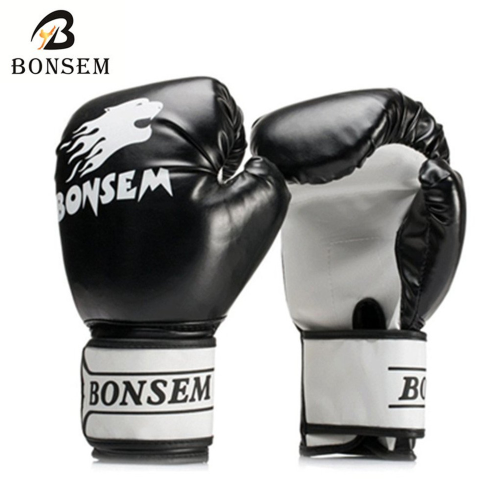 1 Pair Breathable MMA Boxing Gloves Solid Color Soft PU Material Muay Thai Training Full Finger MMA Gloves for Adult