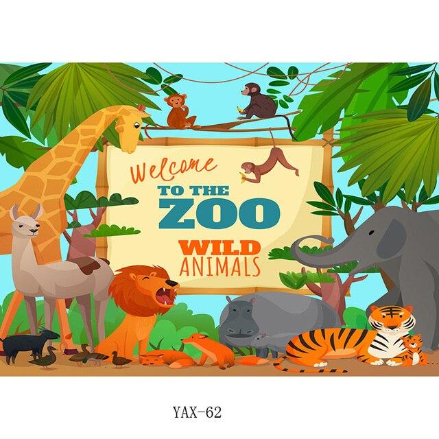 Купить shengyongbao дети день рождения фоны мультфильм животные зоопарк картинки цена