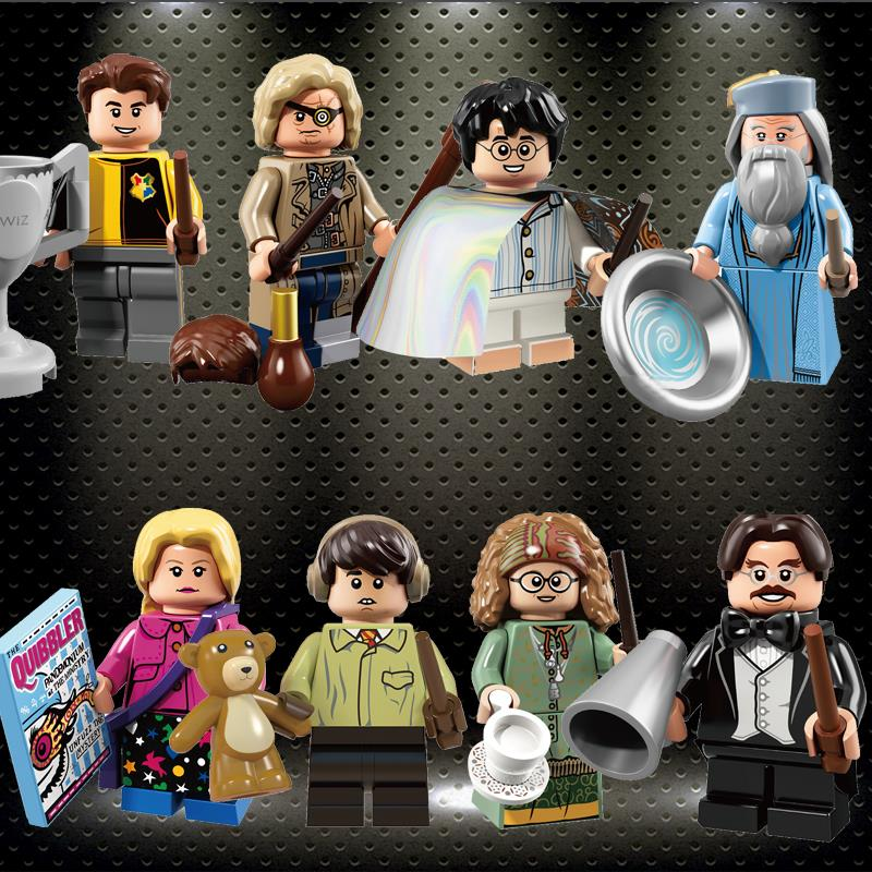 Ly Harry Series Potters Flitwick Dumbledore Longbottom Luna Diggory Building Blocks Gured Toys For Children WM6041