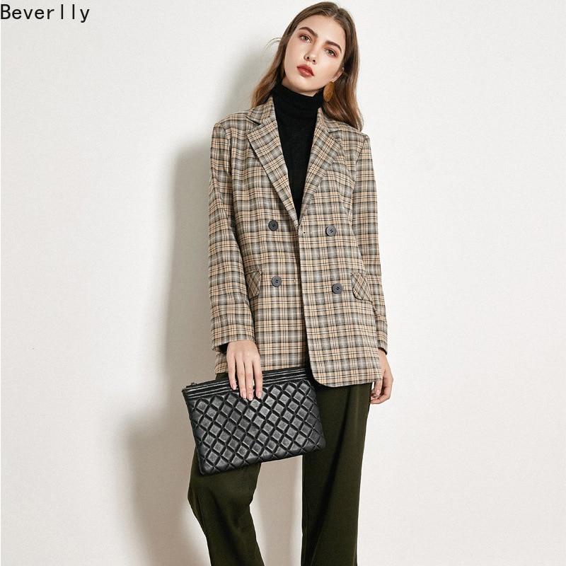 Beverlly Winter Clothes Women Temperament Checked Suit Jacket  Autumn 2019 Loose Korean Version Jacket Plaid Leisure Suit 98078